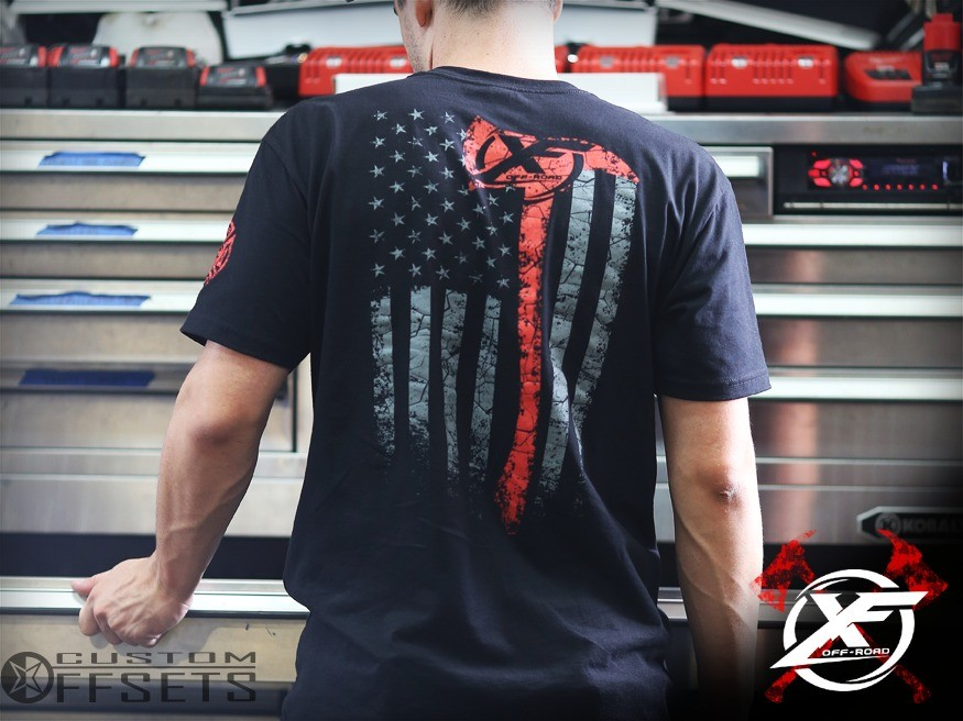 XF Offroad and Custom Offsets Fallen Firefighter T-Shirt
