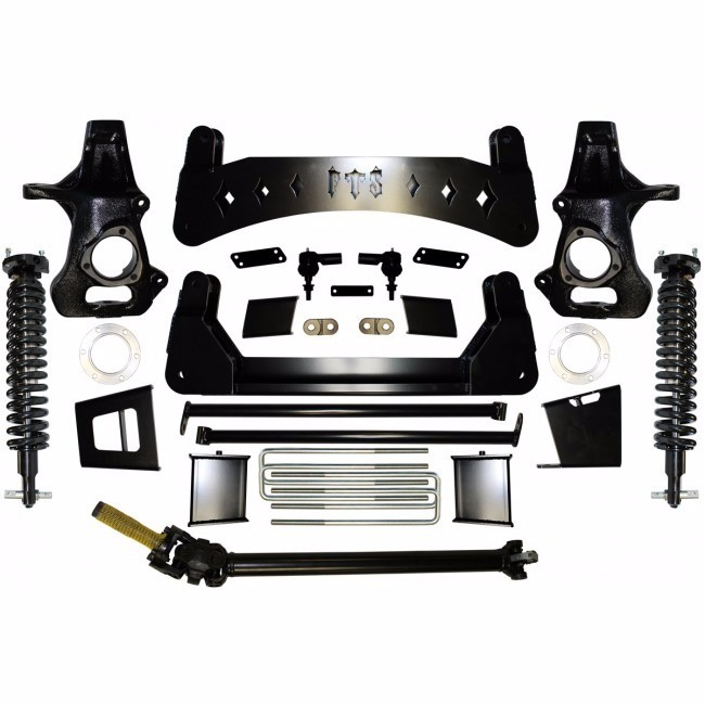 """Full Throttle Suspension FTS 2007-2013 7"""" GMC Denali 1500 Awd w/   Coilovers"""