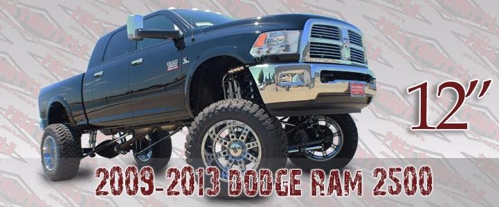"Full Throttle Suspension FTS 2009-2013 2500 & 2009-2012 3500 12"" Long Arm Dodge 4WD Gas"