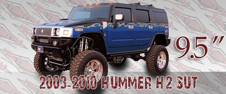 """Full Throttle Suspension FTS 2003-2010 9.5"""" Hummer H2 / Sut w/   Air Ride"""