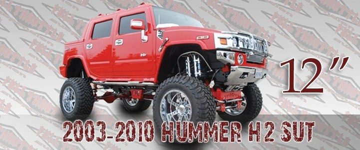 "Full Throttle Suspension FTS 2003-2010 12"" Hummer H2 / Sut w/   Air Ride"