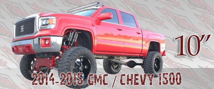 """Full Throttle Suspension FTS 2008-2017 10"""" Chevy / GMC 1500 4WD Basic Spindle Kit (factory Steel Suspension)"""