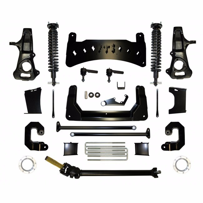 """Full Throttle Suspension FTS 2014-2017 10"""" Chevy / GMC 1500 4WD Emulsion Coilover Kit (factory Aluminum Suspension)"""
