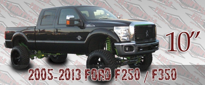 "Full Throttle Suspension FTS 2008-2013 Ford F250/F350 10"" Radius Arm Kit w/   Rear Springs & Crossover Steering"