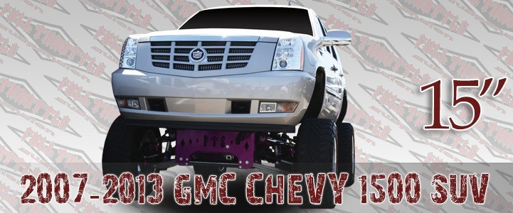 "Full Throttle Suspension FTS 2007 15"" Chevy / GMC Tahoe / Suburban / Avalanche / Escalade / Denali 2WD w/   Coilovers"