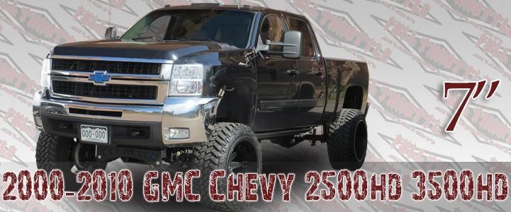 """Full Throttle Suspension 1999-2000 7"""" Chevy / GMC Silverado / Sierra 1500HD / 2500HD 4WD Dually w/   Rear Blocks (Gas)"""