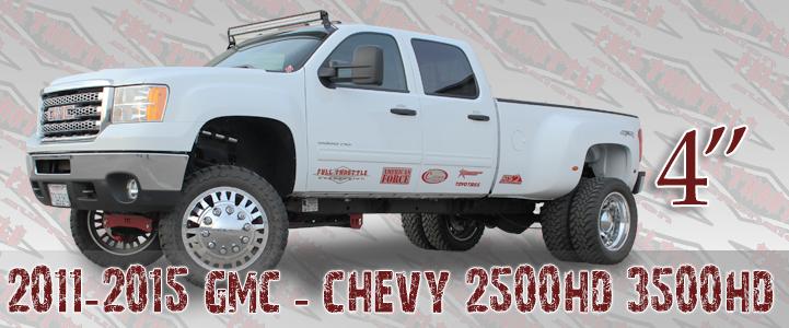 """Full Throttle Suspension 2011-2015 4"""" CHEVY / GMC SILVERADO / SIERRA 4WD 2500HD"""