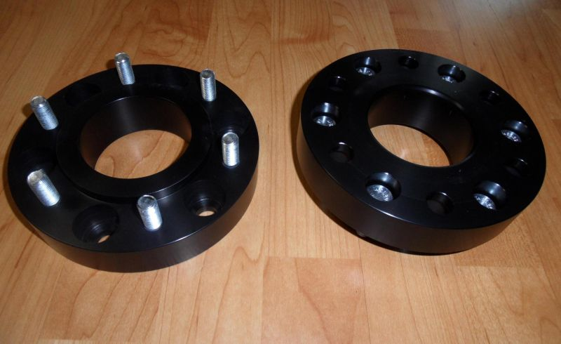 "Aluminum 1.25"" BORA Spacers (pair-2) 5 or 6 lug All makes and models"