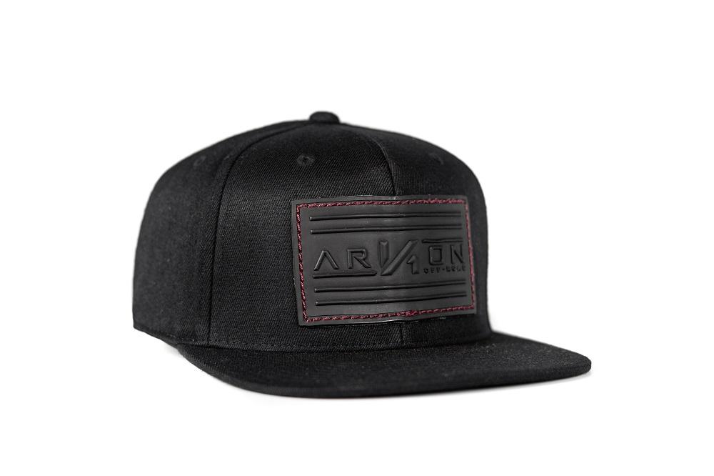 Arkon Leather Patch Black  Flat Brim Hat