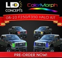 (Headlights) 2008-10 F-250/350 Headlight Halo install package