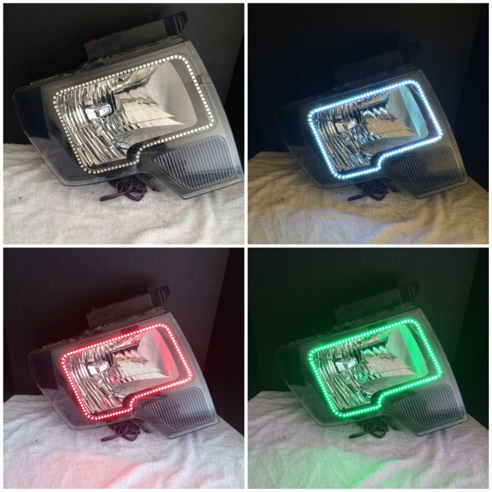 (Headlights) 2009-14 bi-halogen f150 Headlight halo install package
