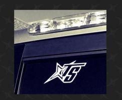 """Team Stance 6"""" TS Logo White Vinyl Decal"""