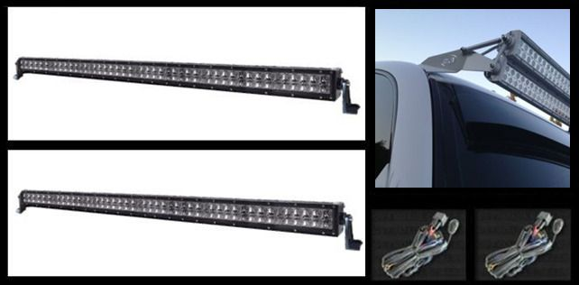 50 inch dual stacked led offroad light bars complete kit 50 inch dual stacked led offroad light bars complete kit mozeypictures Images