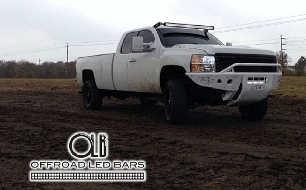 50 Inch Offroad Led Light Bar Complete Set Up For Chevy And Gmc