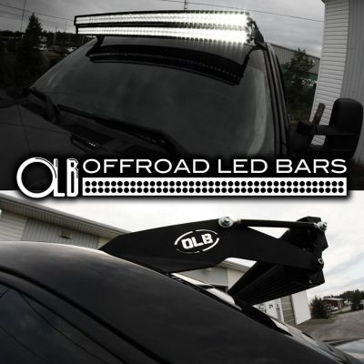 Complete kit for stacked 50 inch led light bar mounts 07 2013 chevy gmc 50 inch dual stacked led offroad light bars complete kit aloadofball Choice Image