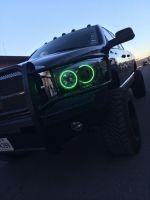 (Headlights) 06-08 Dodge Ram Halo package