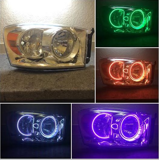 (Headlights) 06-08 Dodge Ram Halo package