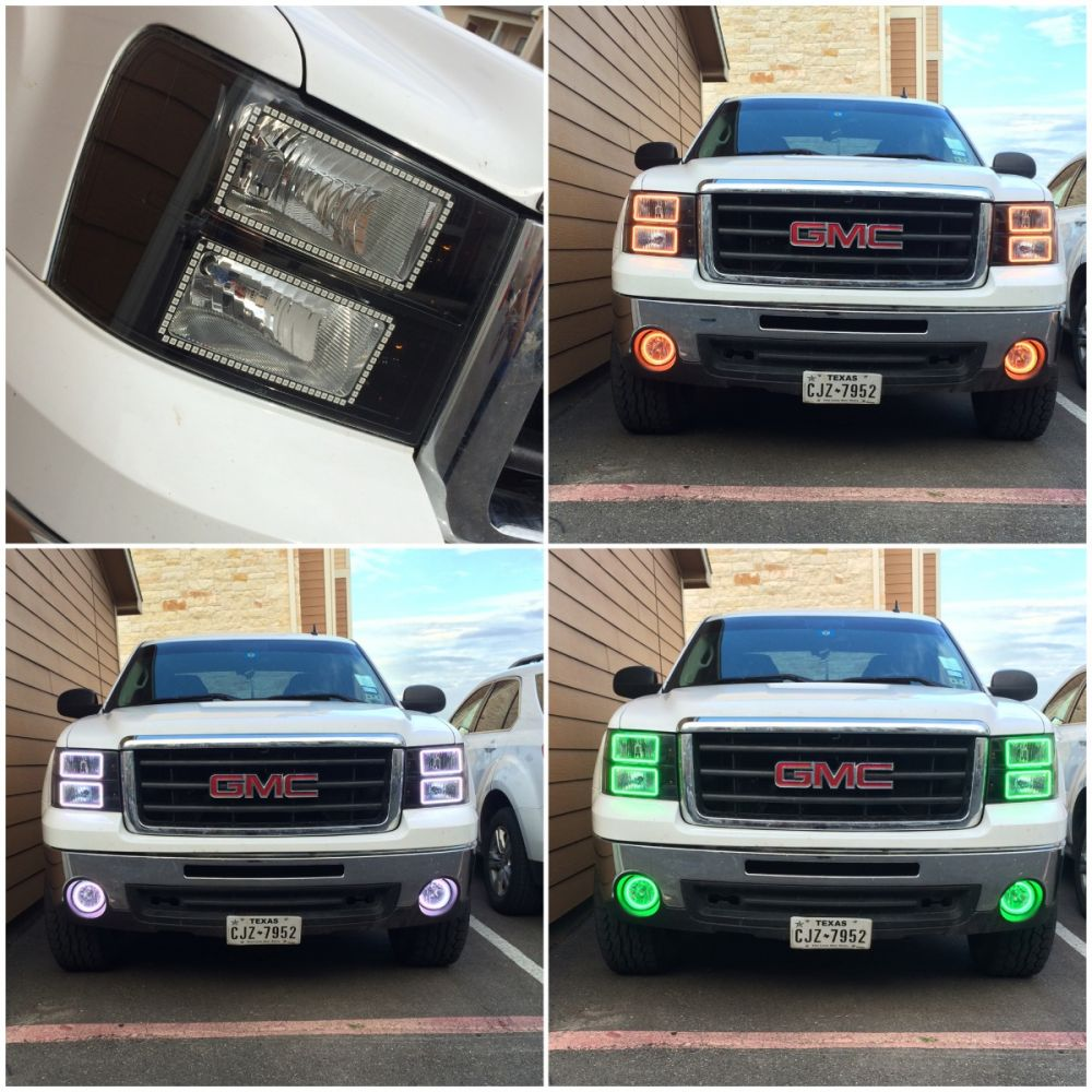 (Headlights) 2007-2013 NNBS GMC truck halo install package