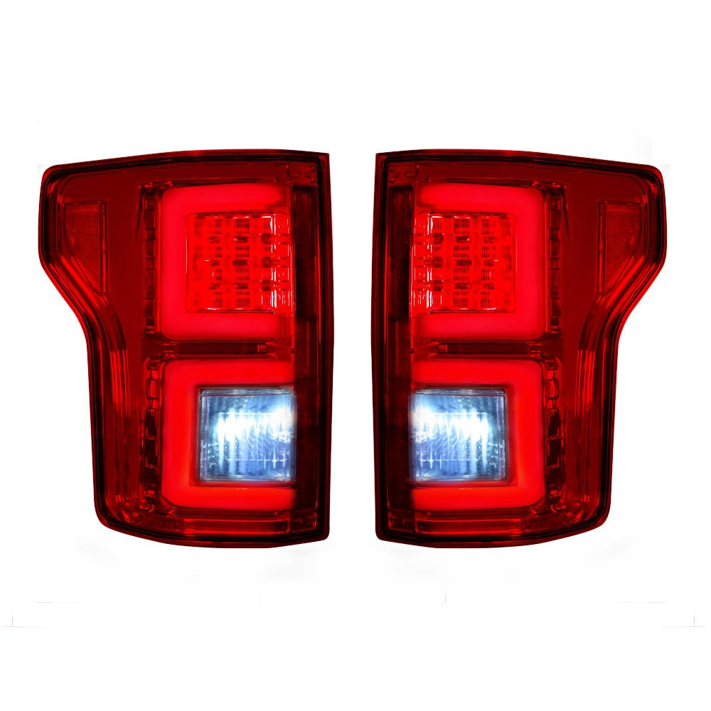 Recon Led Tail Lights W Red Lens Ford F150 15 17