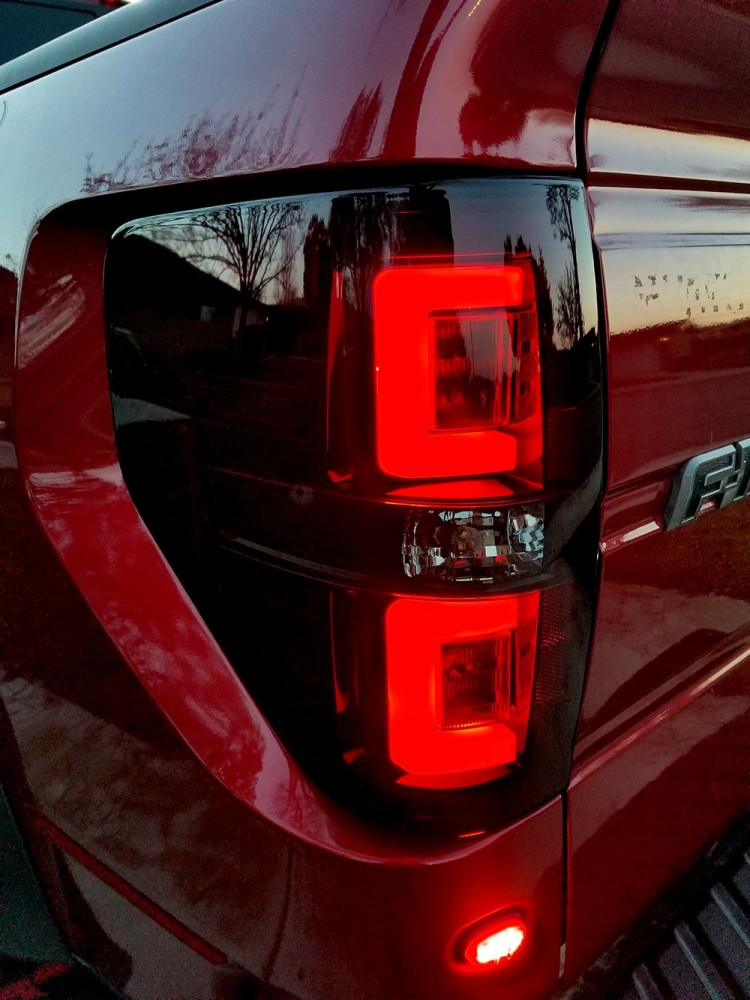 Recon Led Tail Lights W Dark Red Smoked Lens Ford F150 Raptor 09 14