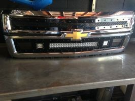 Chevy Silverado Grill >> 2014 2015 Chevrolet 1500 Silverado Led Light Bar Grill