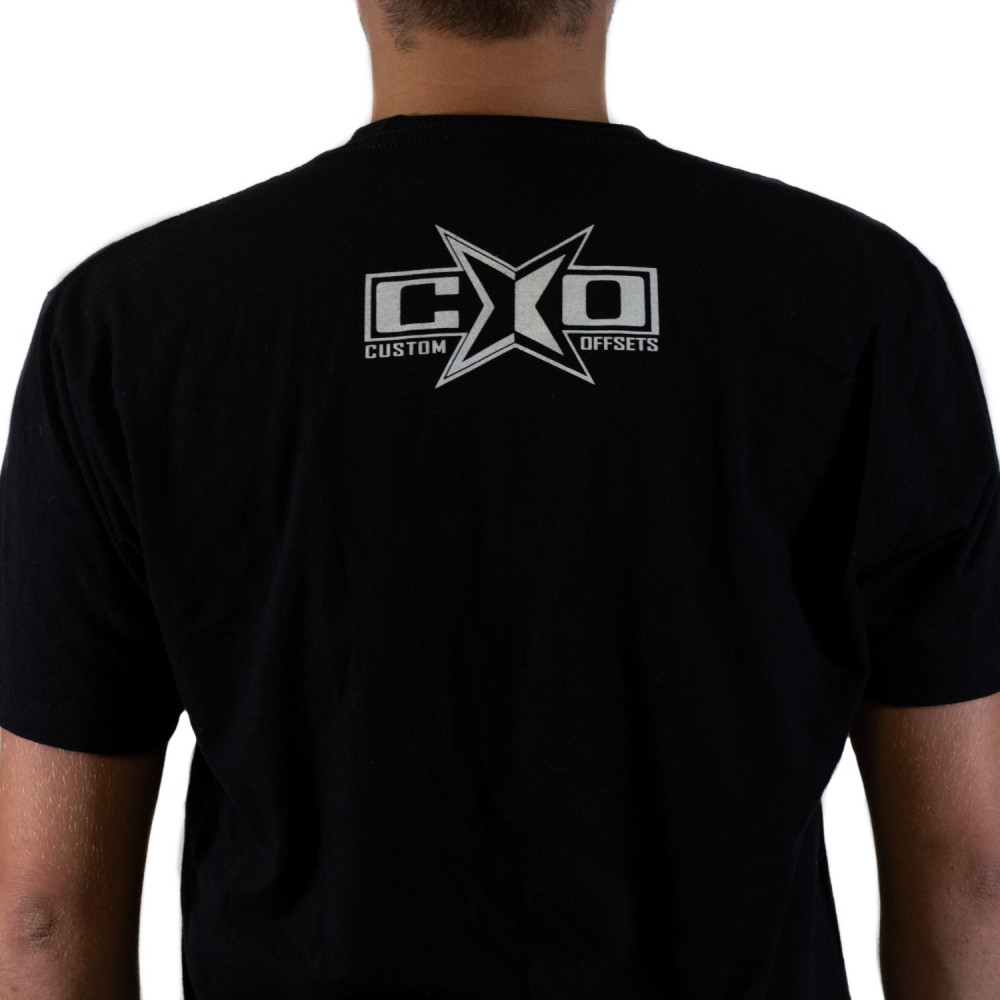 Custom Offsets Black w/ White Ink Logo T-Shirt