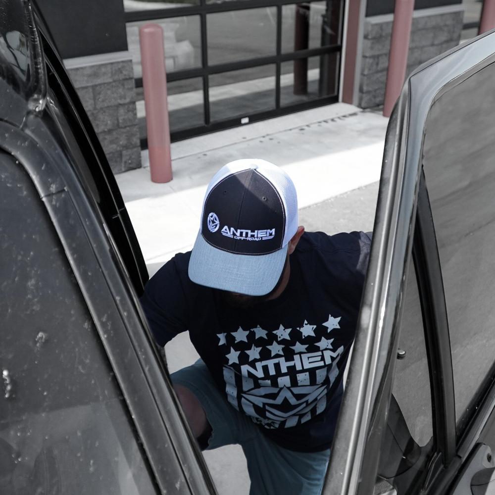 Classic Trucker Black, White & Grey Hat