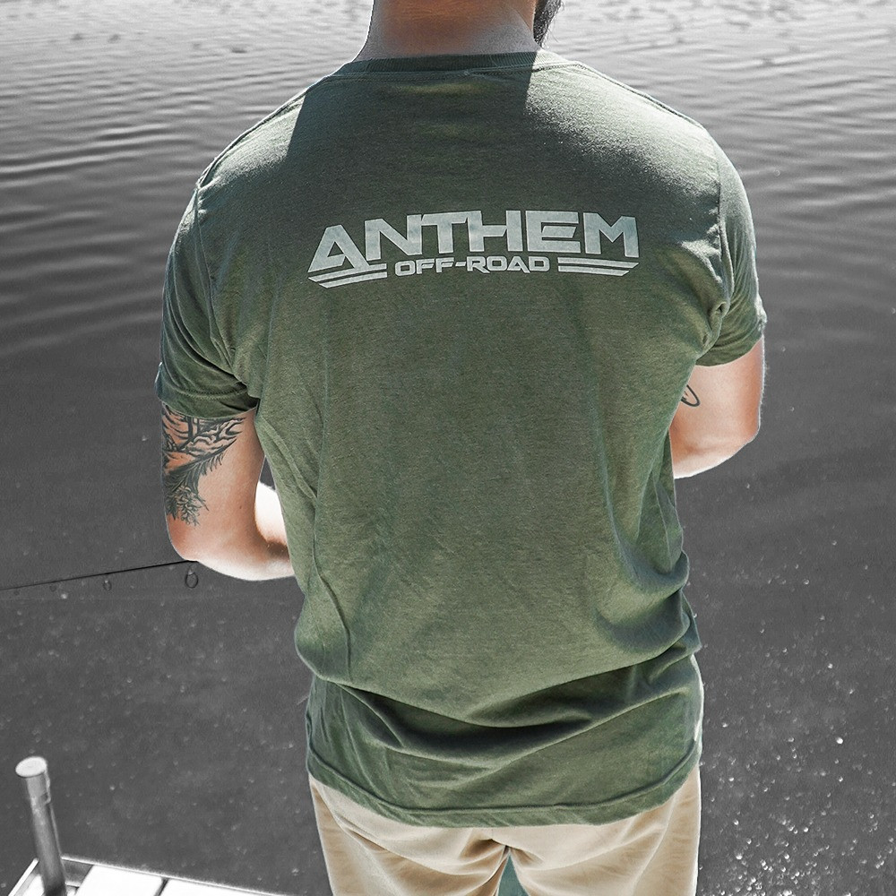 Classic Logo Heather Army Green Shirt