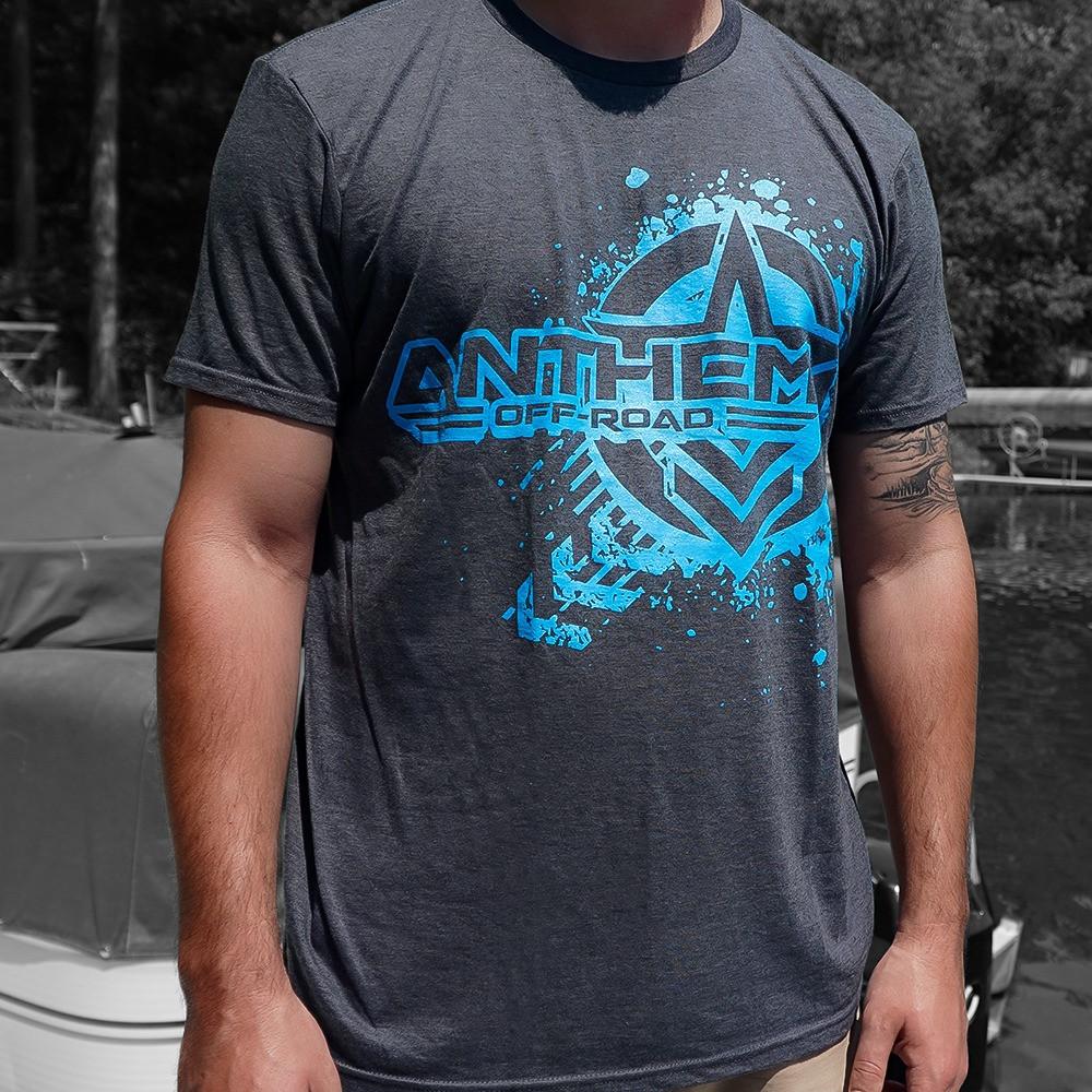 Splatter Logo Heather Grey & Blue Shirt