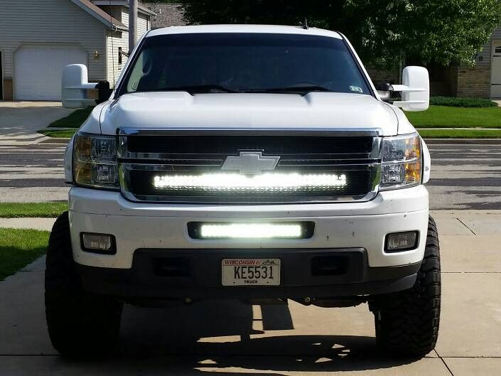 20 Inch Offroad Led Light Bar Bumper Kit For 20075 2013