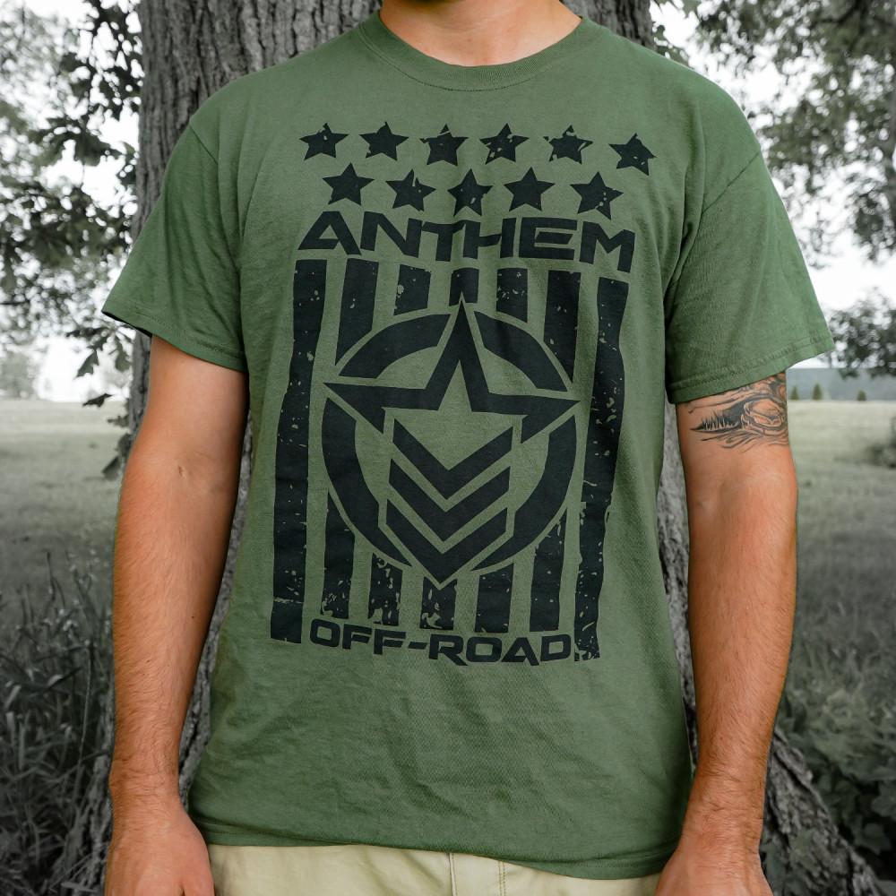 Stars and Stripes Green & Black Shirt