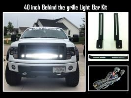 40 inch led light bar and behind the grille bracket for 2009 2014 40 inch led light bar and behind the grille bracket for 2009 2014 ford f150 mozeypictures Gallery