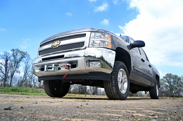 Rough Country GM Hidden Winch Mounting Plate (07-13 Silverado/Sierra 1500 PU)