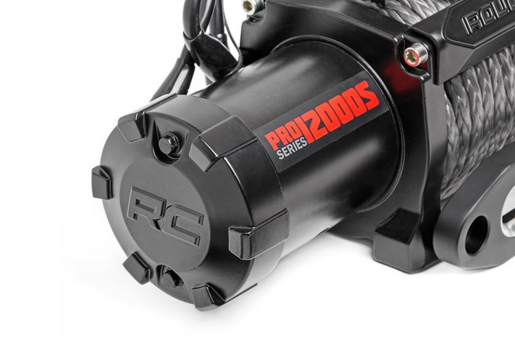 Rough Country 12000lb Pro Series Electric Winch | Synthetic Rope