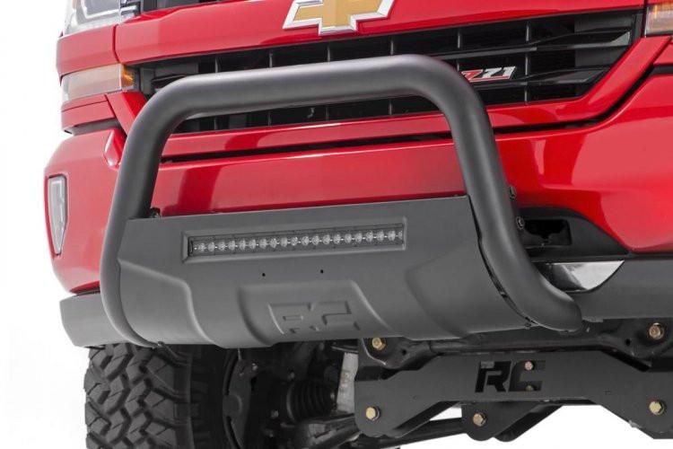 Rough Country GM 07-18 1500 PU/SUV Bull Bar w/LED Light Bar (Black)