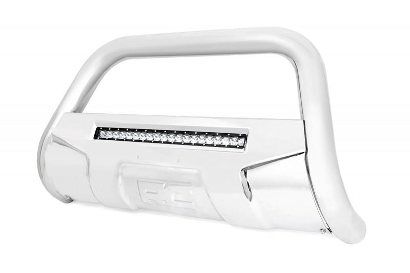 Rough Country Dodge Bull Bar w/LED Light Bar | Stainless Steel (09-18 Ram 1500)