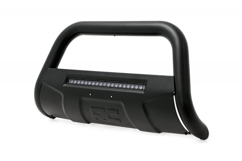 Rough Country Ford 17-19 F-250 Bull Bar w/LED Light Bar (Black)