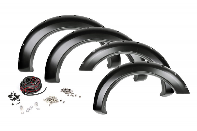 Rough Country Toyota Pocket Fender Flares w/Rivets (07-13 Tundra)