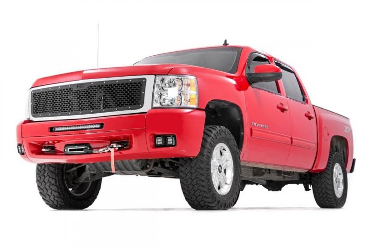 Rough Country Chevrolet LED Fog Light Kit | Black Series (07-13 Silverado 1500)