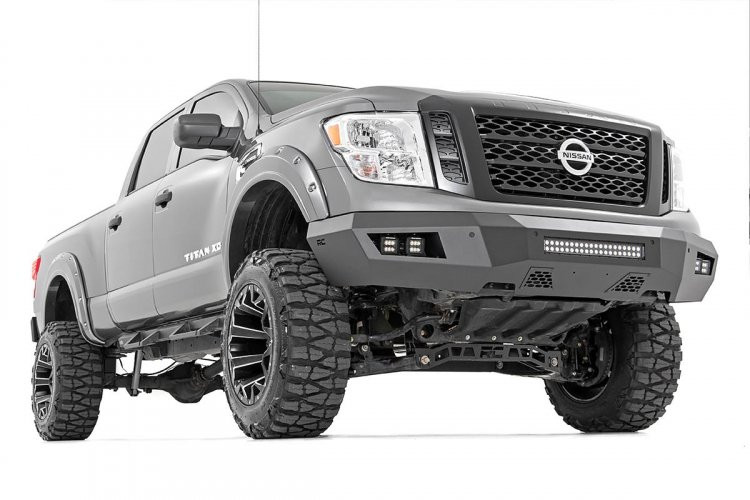 Rough Country Nissan Heavy-Duty Front LED Bumper (16-19 Titan XD)