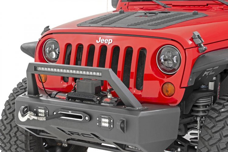 Rough Country Jeep 7in LED Projection Headlights (Wrangler TJ, JK)