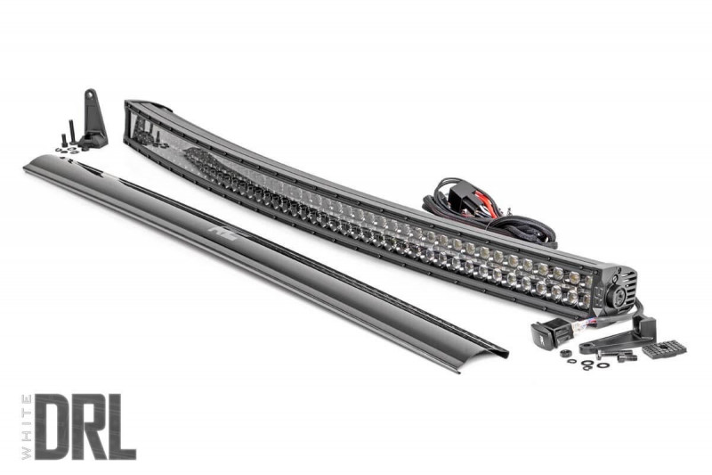 Rough Country 50-inch Curved Cree LED Light Bar - (Dual Row | Black Series w/ Cool White DRL)
