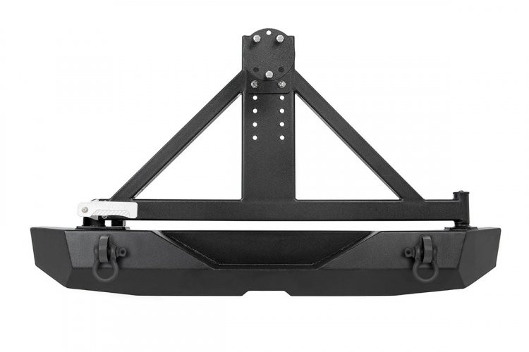 Rough Country Jeep Rock Crawler Rear HD Bumper w/Tire Carrier (07-18 Wrangler JK)