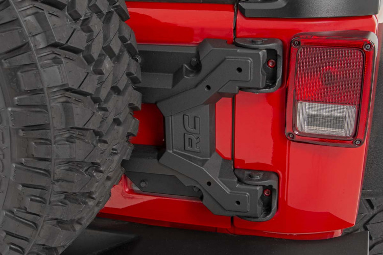 Rough Country HD Hinged Spare Tire Carrier Kit (07-18 Jeep JK)