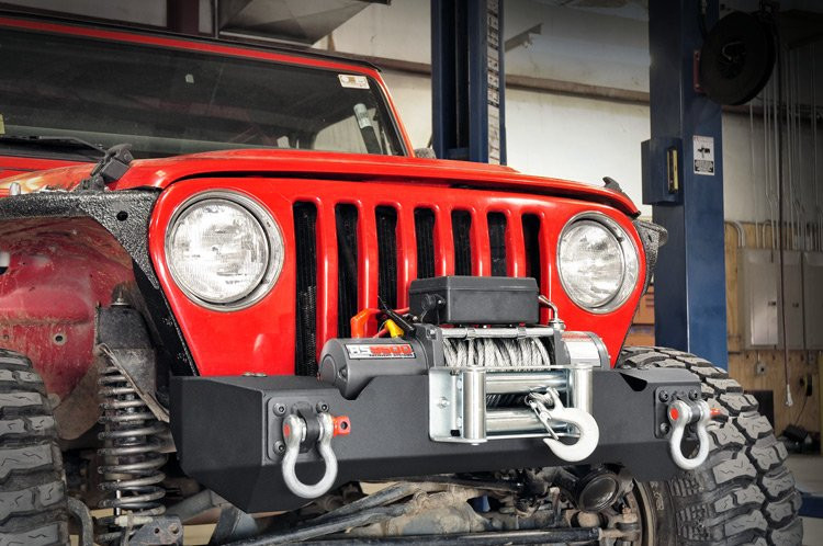 Rough Country Jeep Stubby Front Winch Bumper