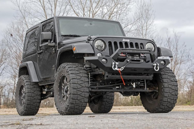 Rough Country Jeep Full Width Front LED Winch Bumper (JK, JL, Gladiator JT)