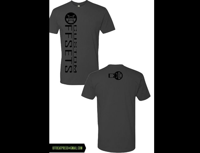 5df3dbe2 Metal Grey W Black Ink Custom Offsets Logo T Shirt Custom Offsets