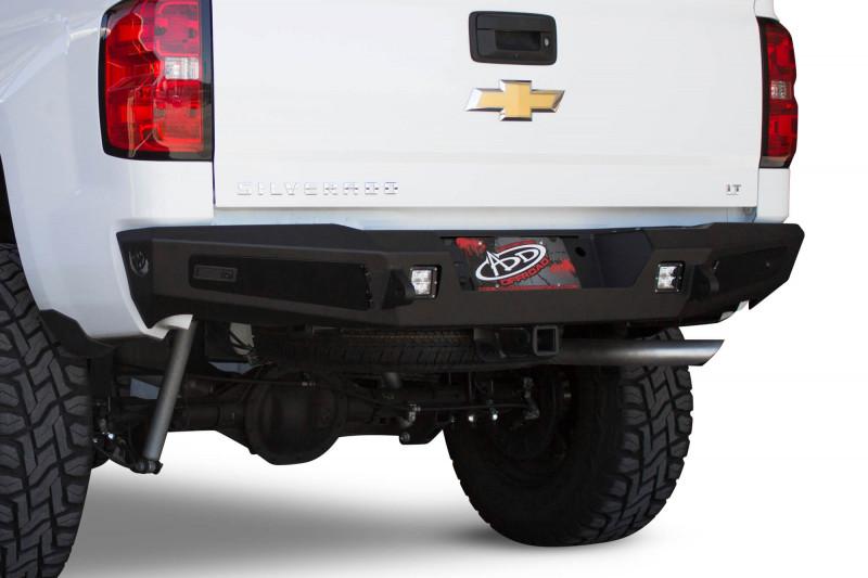 ADD Offroad HoneyBadger Rear Bumper W/ Sensor Cutouts (14-18 Chevy/ GMC 1500)