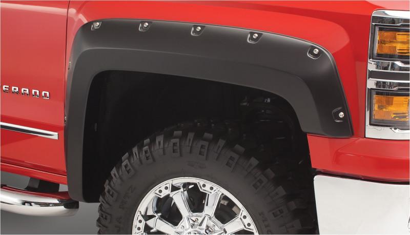 Bushwacker Pocket Style Fender Flares - Set of 4 - Black (2019 Ford Ranger)