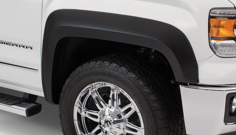 Bushwacker Smooth Fender Flares - Set of 4 - Black (19-20 GMC 1500)